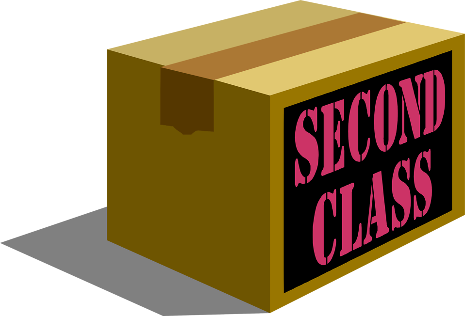 Illustration of a second class shipping package.
