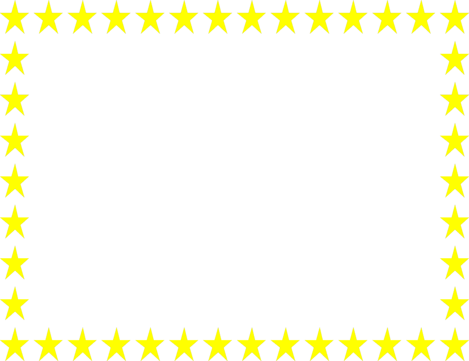 Illustration of a blank frame border of yellow stars : Free Stock Photo