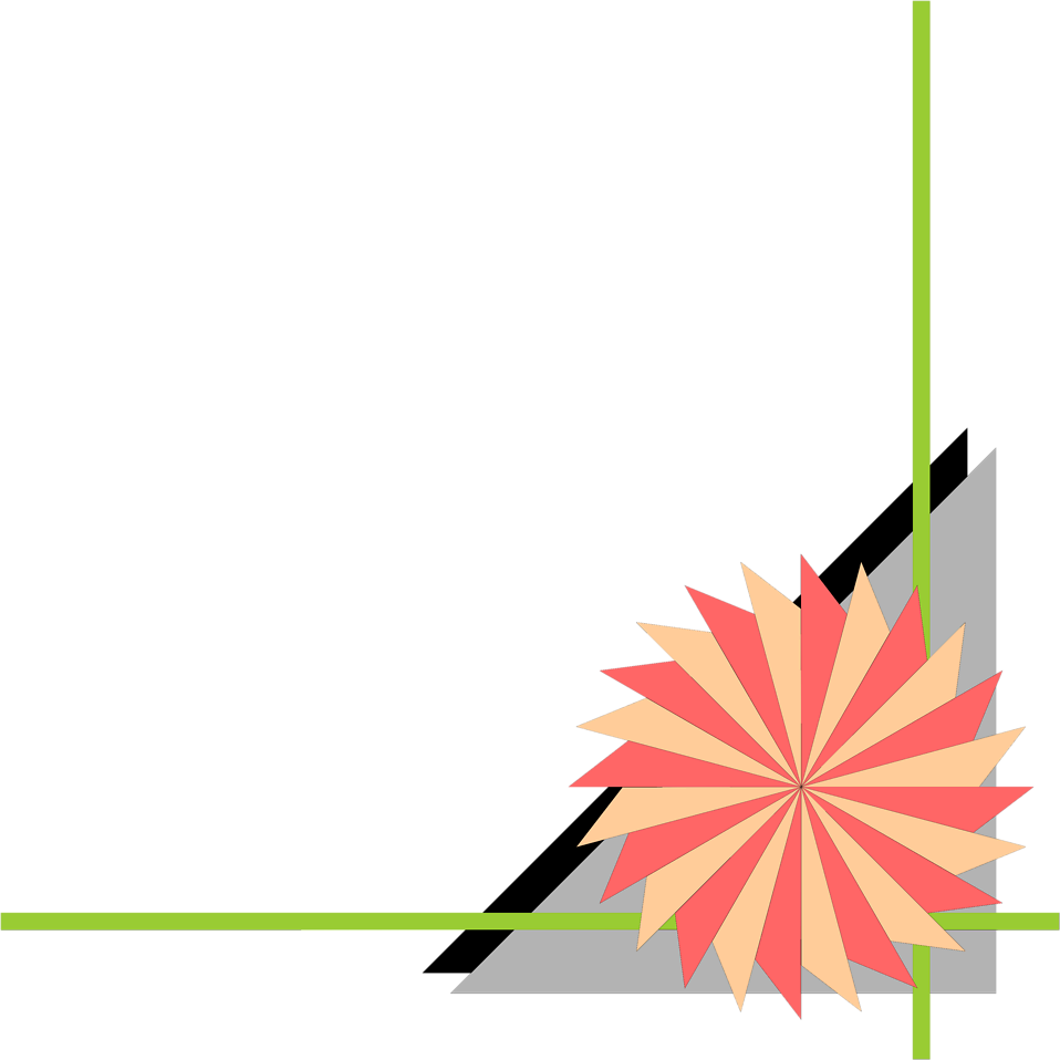 Illustration of a lower right frame corner with a pinwheel shape : Free Stock Photo