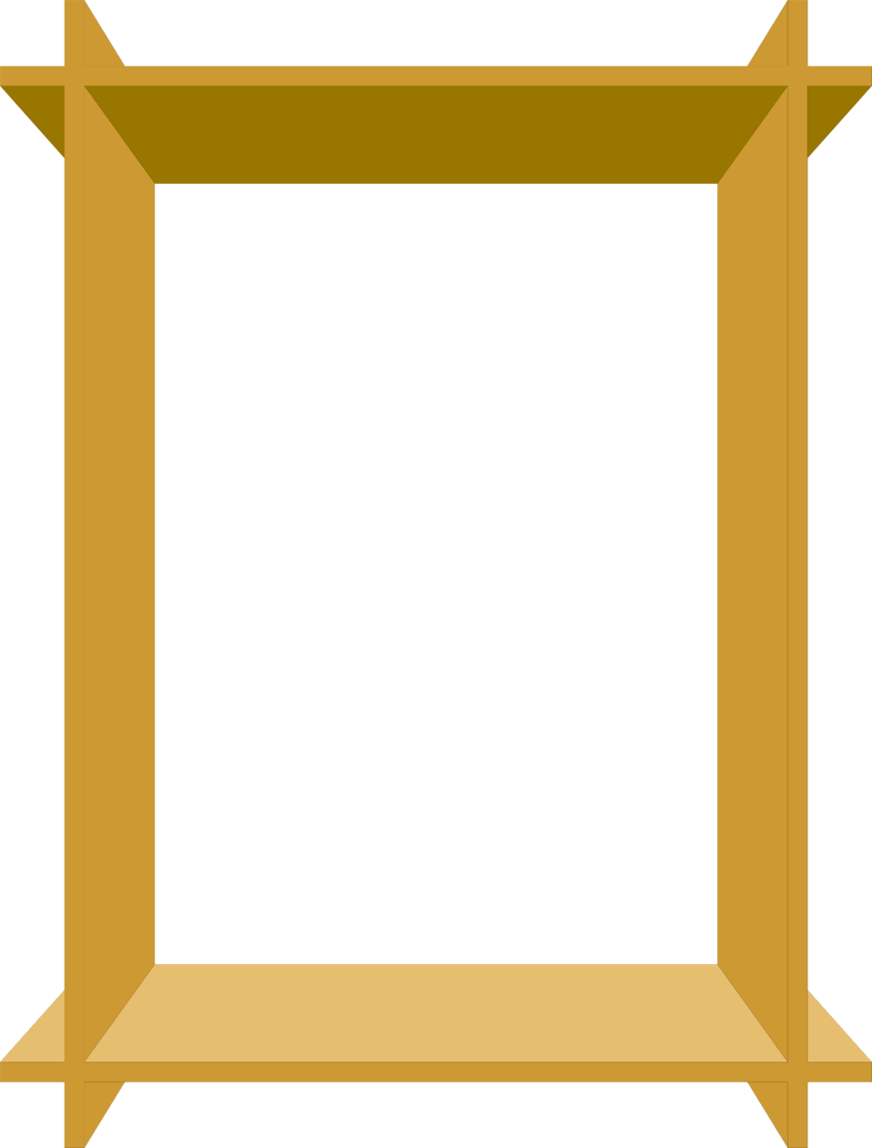 Illustration of an empty 3d wooden frame : Free Stock Photo