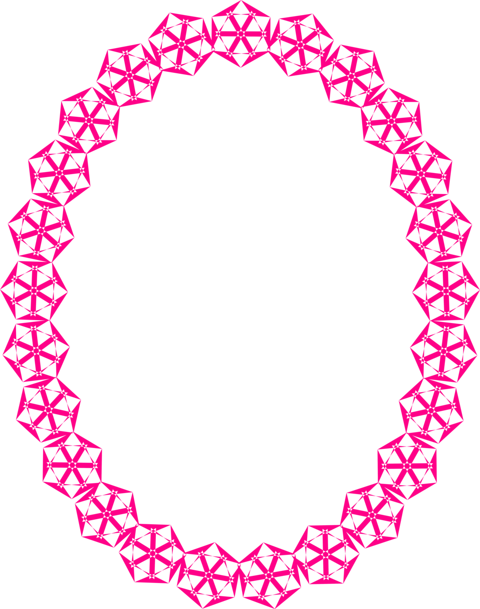 Illustration of a blank frame border with pink shapes : Free Stock Photo