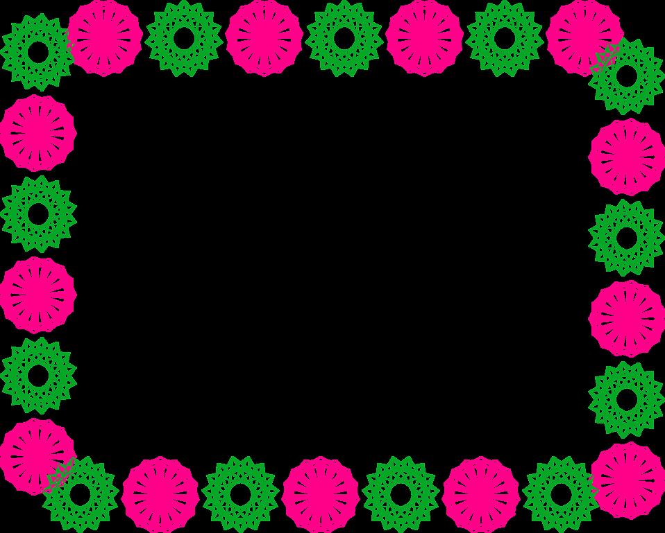 Pink And Green Border Clip Art