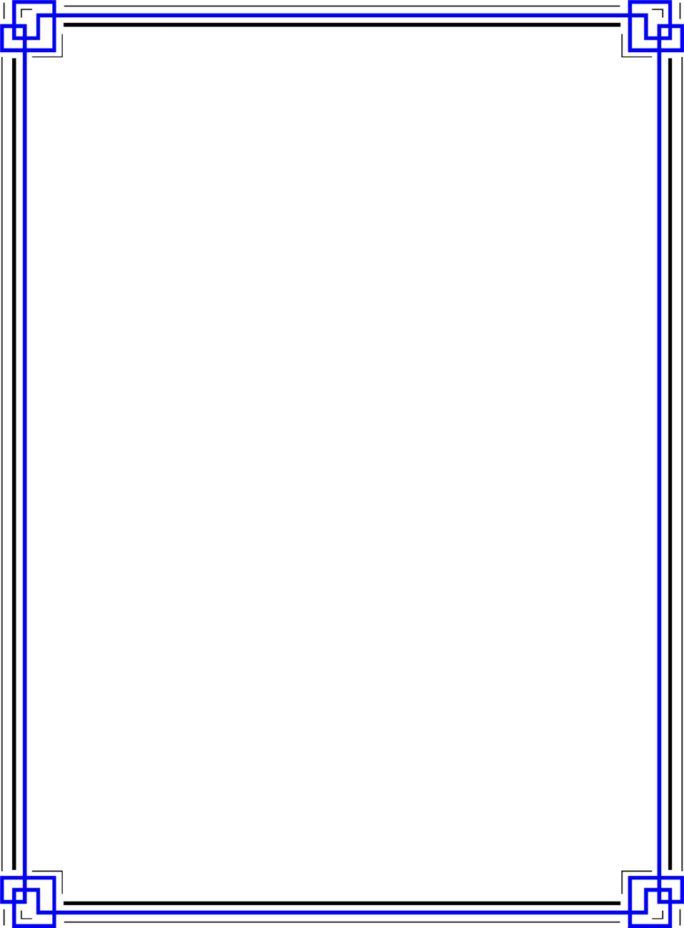 border blue