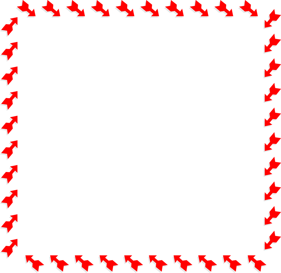 Illustration of a blank frame border of red arrows : Free Stock Photo