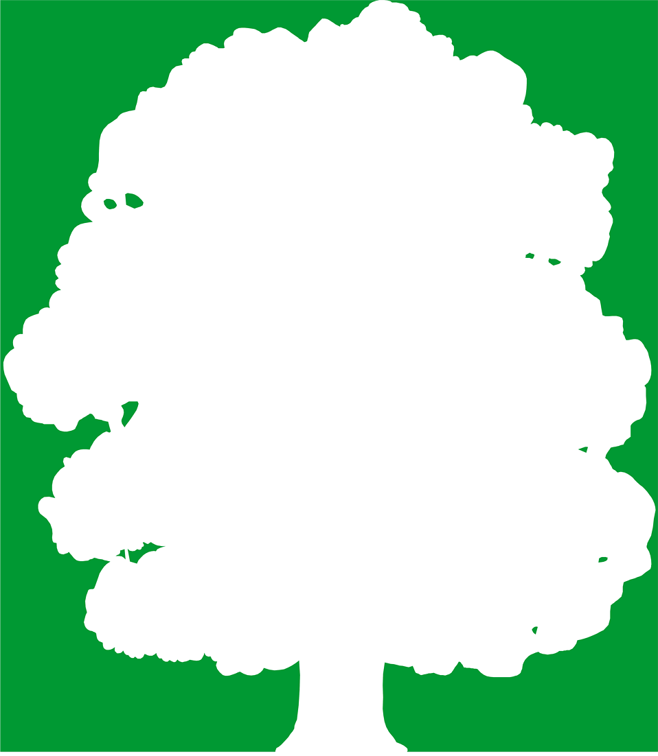 Illustration of a white tree silhouette on a green background : Free Stock Photo