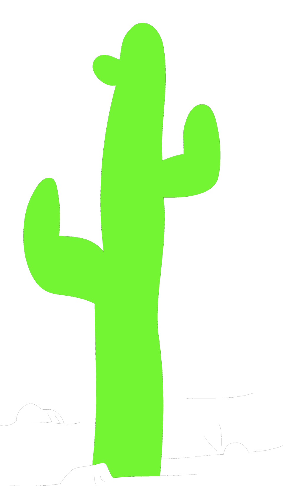 Illustration of a green cactus : Free Stock Photo