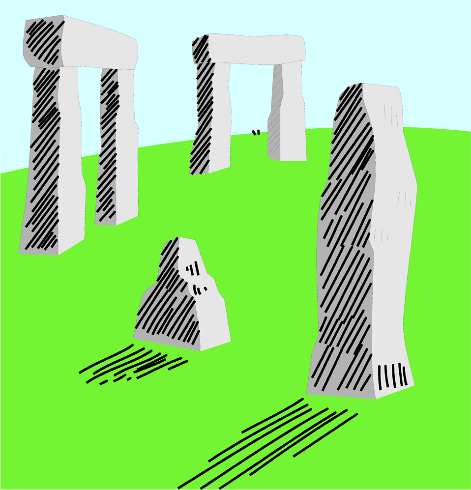 Illustration of Stonehenge in England : Free Stock Photo