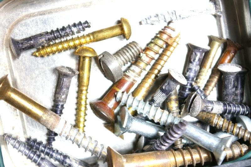 A pile of screws and bolts : Free Stock Photo