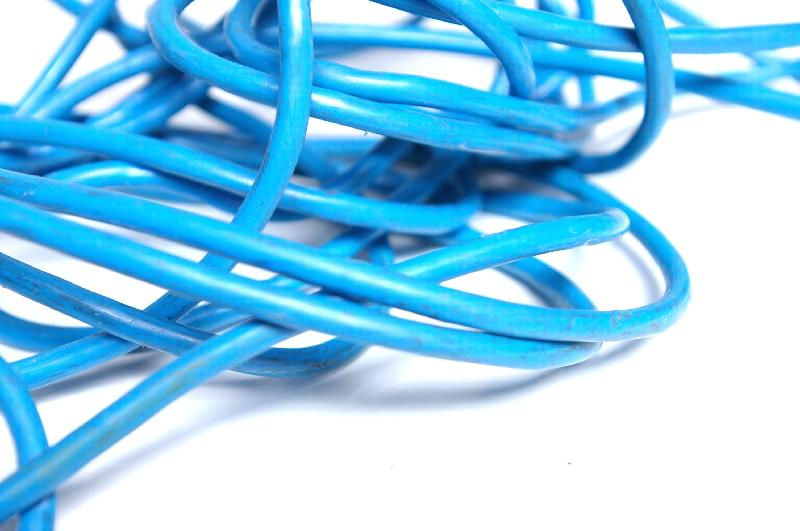 Close-up of blue plastic rope : Free Stock Photo
