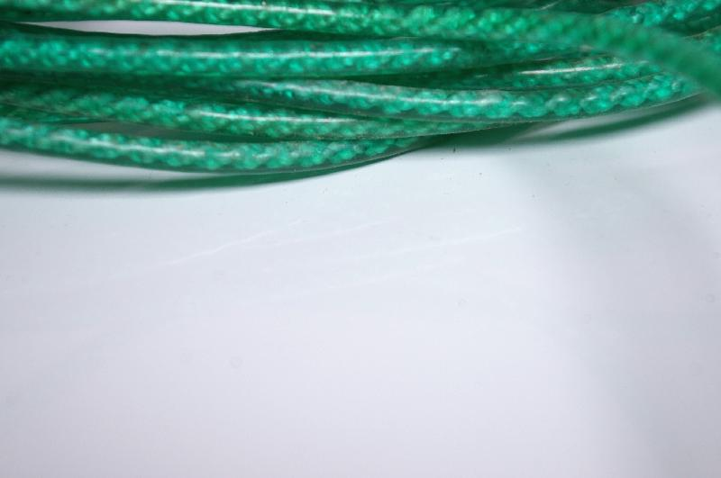Close-up of green plastic rope : Free Stock Photo