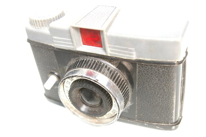 A toy camera isolated on a white background : Free Stock Photo