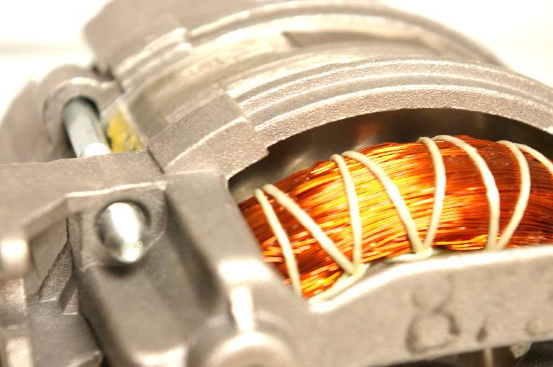 Close-up of an electric motor : Free Stock Photo