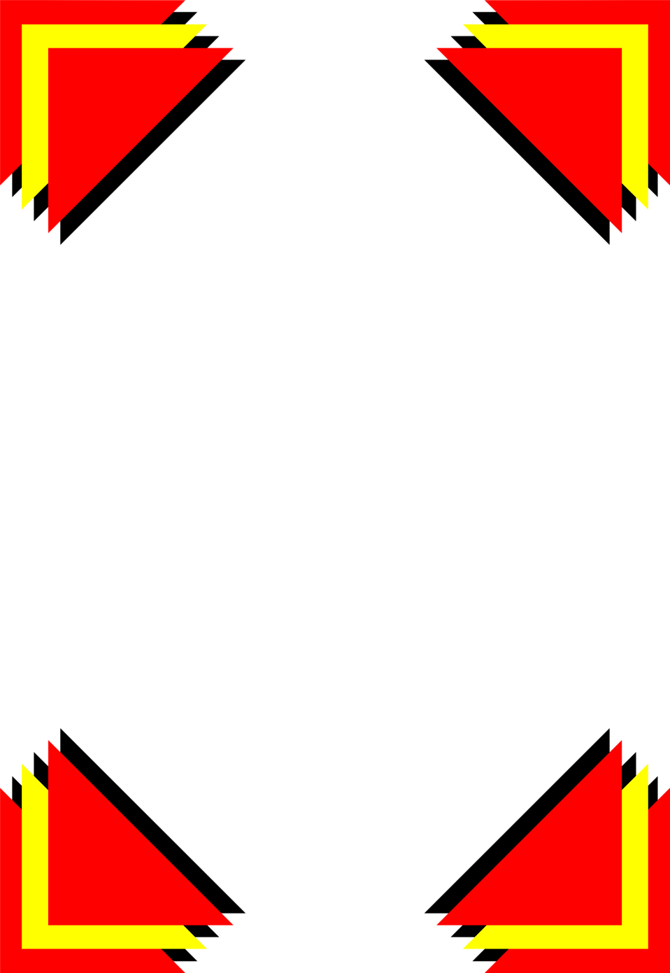 Free stock photos illustration of a blank frame border with - Illustration Of A Blank Frame Border With Red And Yellow Corners Free Stock Photo