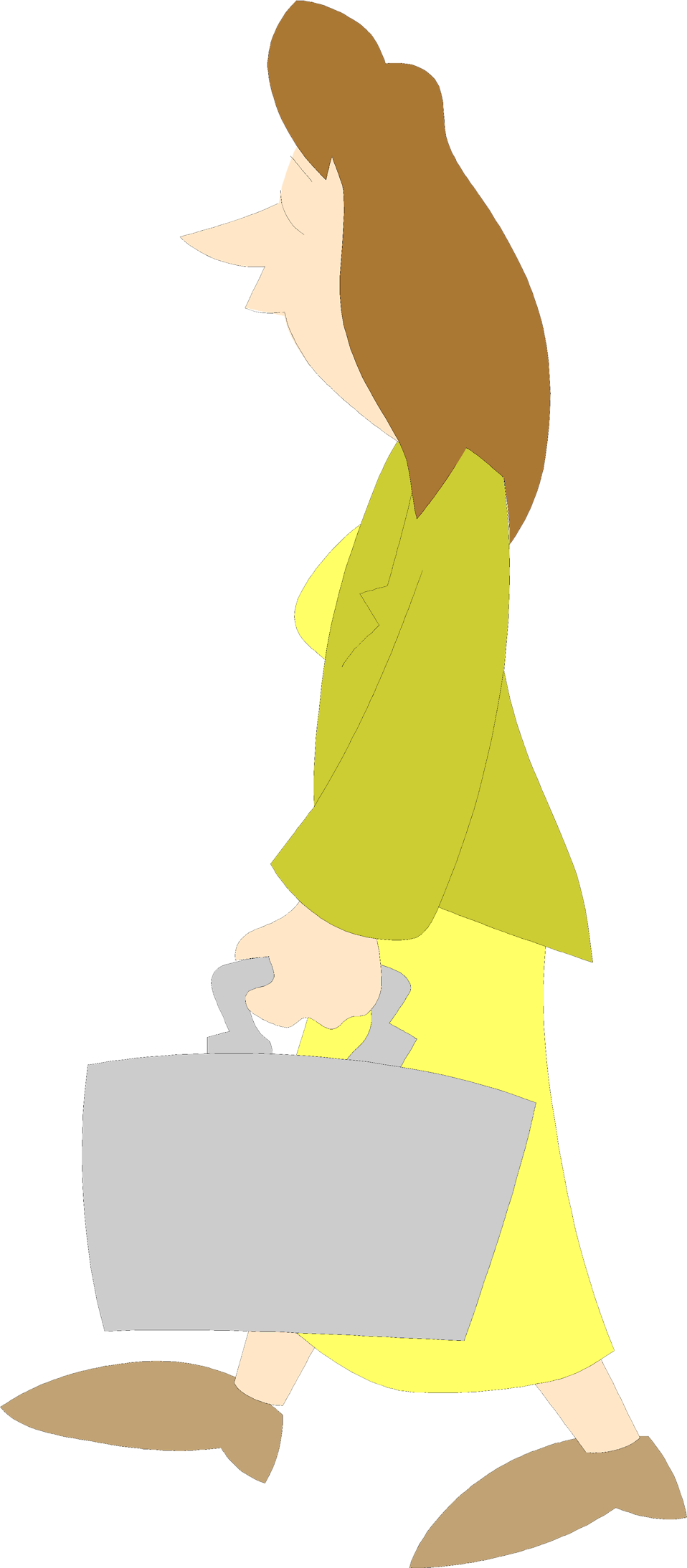 Illustration of a business woman carrying a briefcase : Free Stock Photo