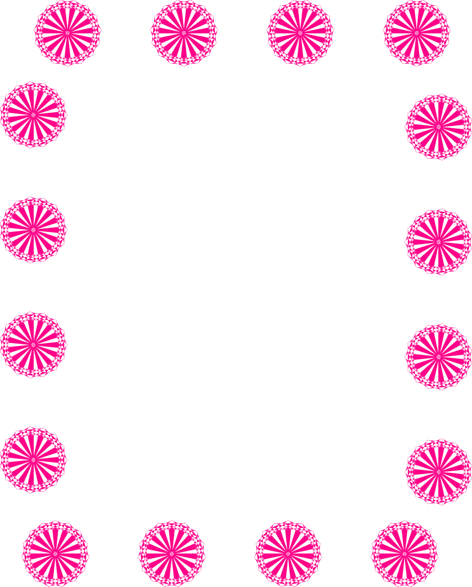 Illustration of a blank frame border of pink shapes : Free Stock Photo