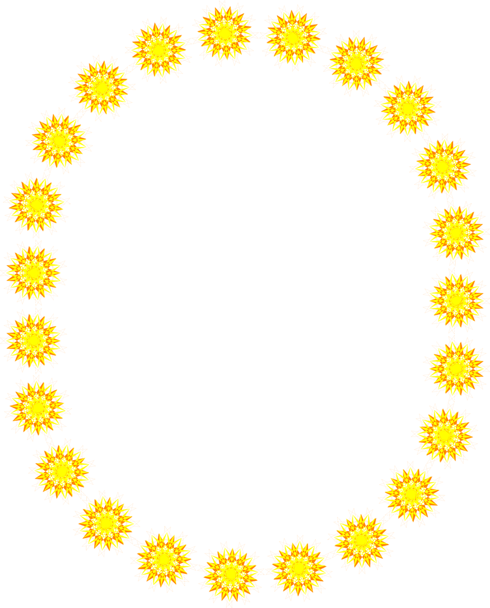 Illustration of a blank frame border of yellow shapes : Free Stock Photo
