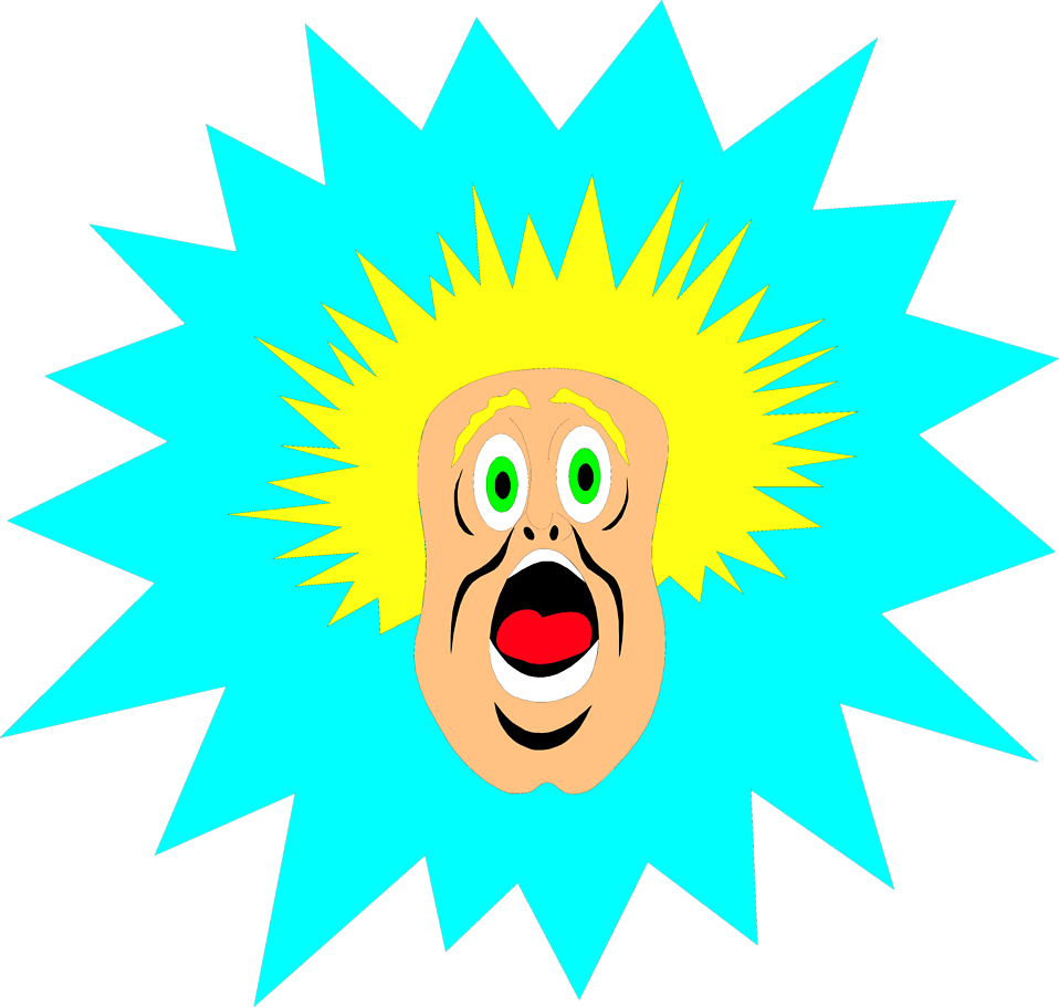 Illustration of a surprised cartoon man : Free Stock Photo