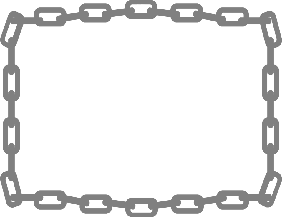 Illustration of a blank frame border of chains : Free Stock Photo