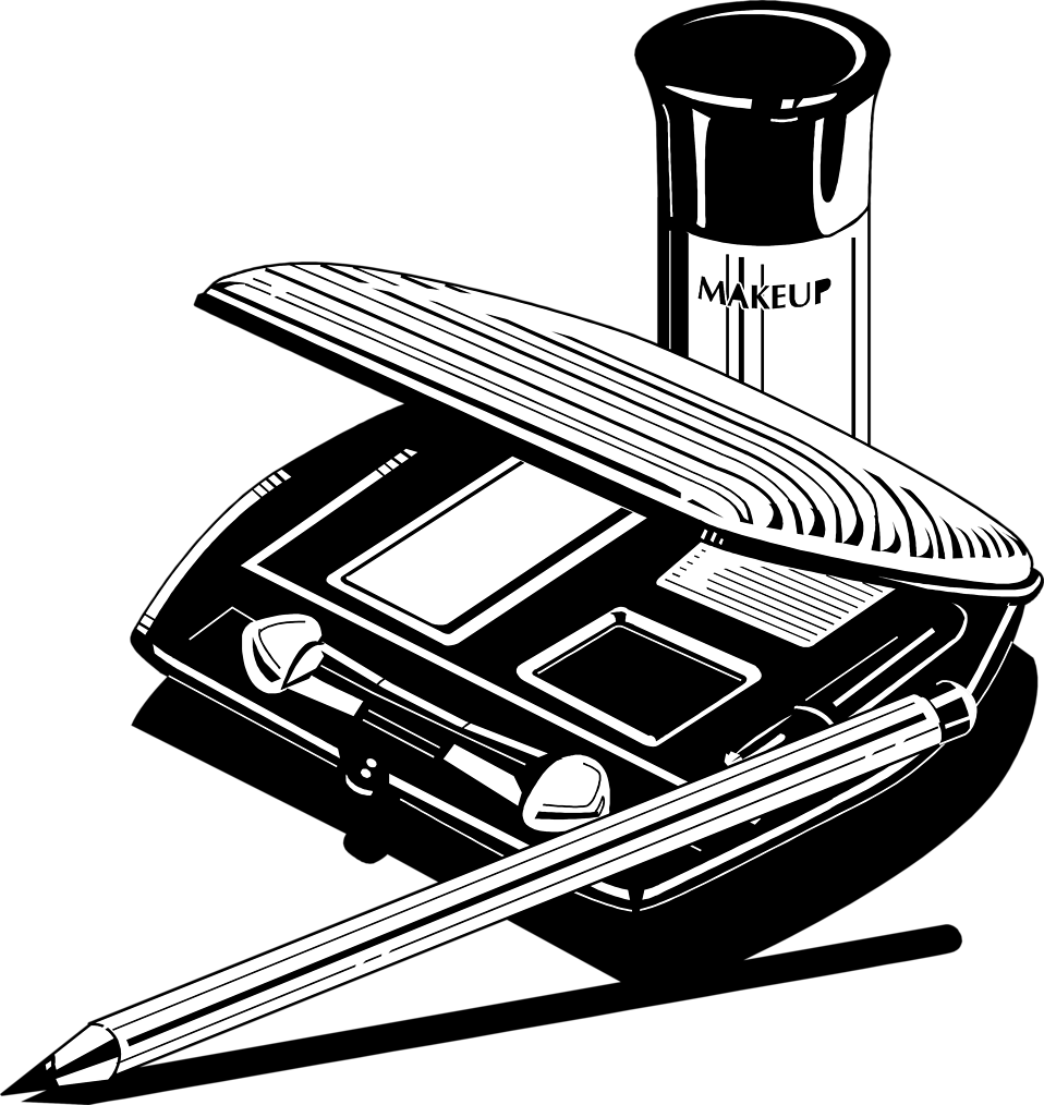Illustration of a makeup kit.