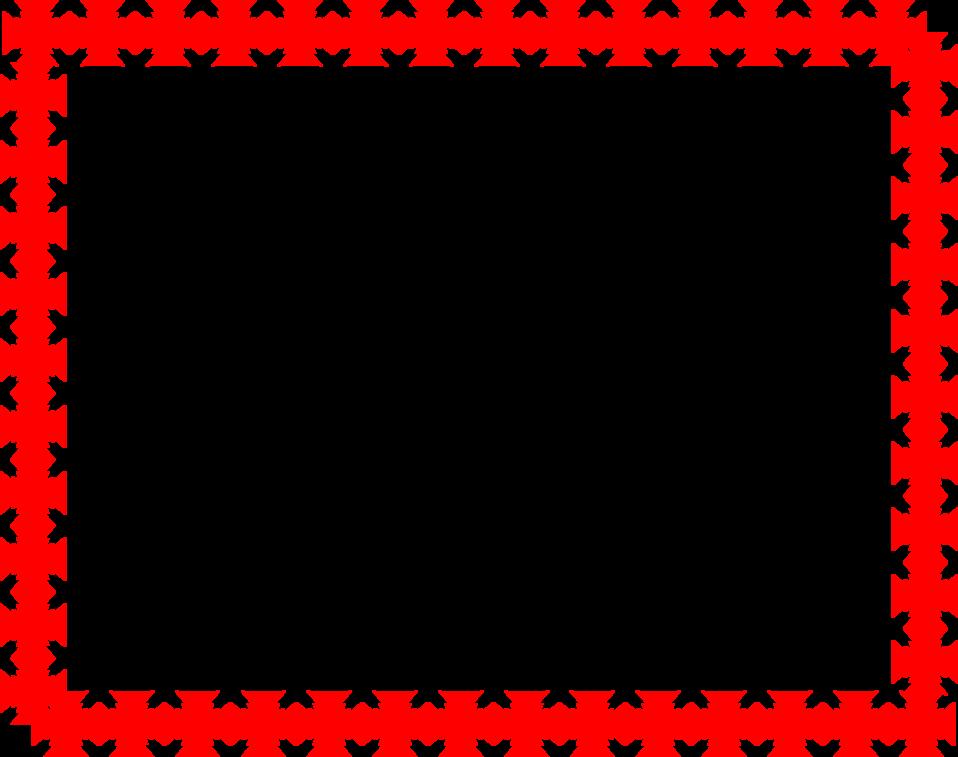 Border Red | Free Stock Photo | Illustration of a blank frame border ...