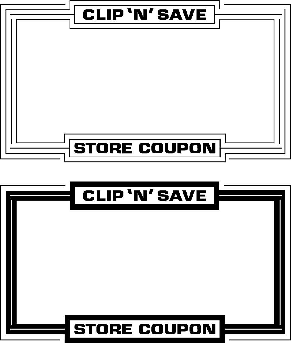 Illustration of blank coupon frames : Free Stock Photo