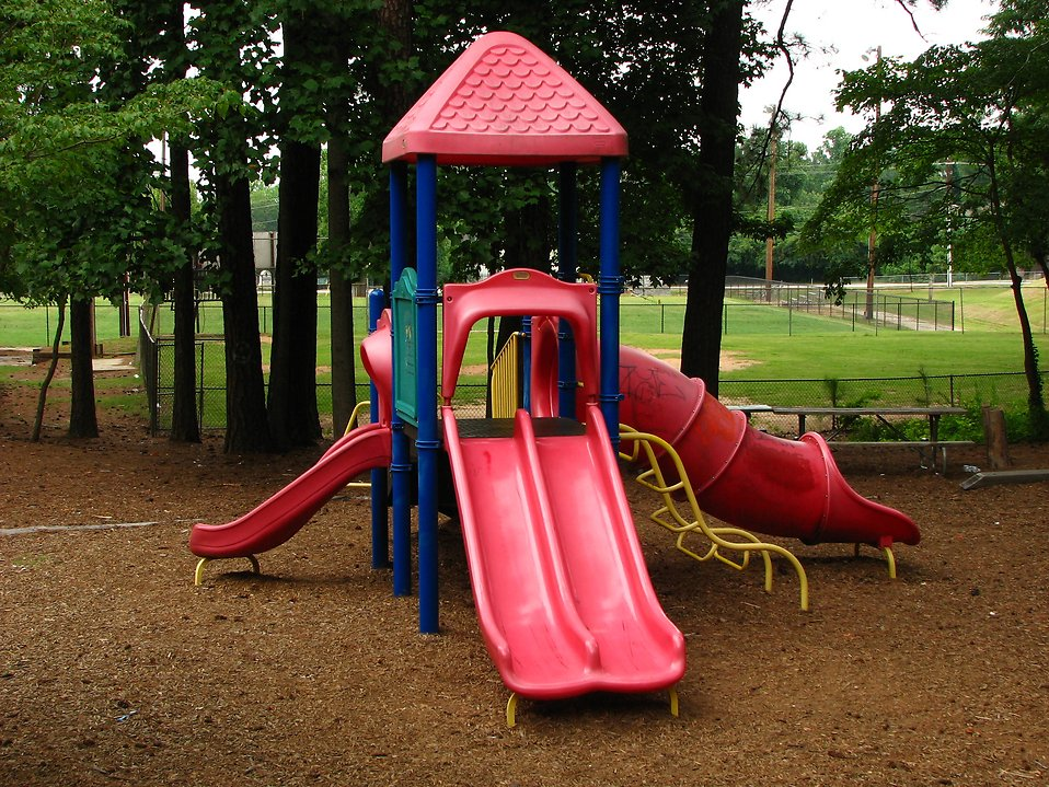 A small playground in a park : Free Stock Photo