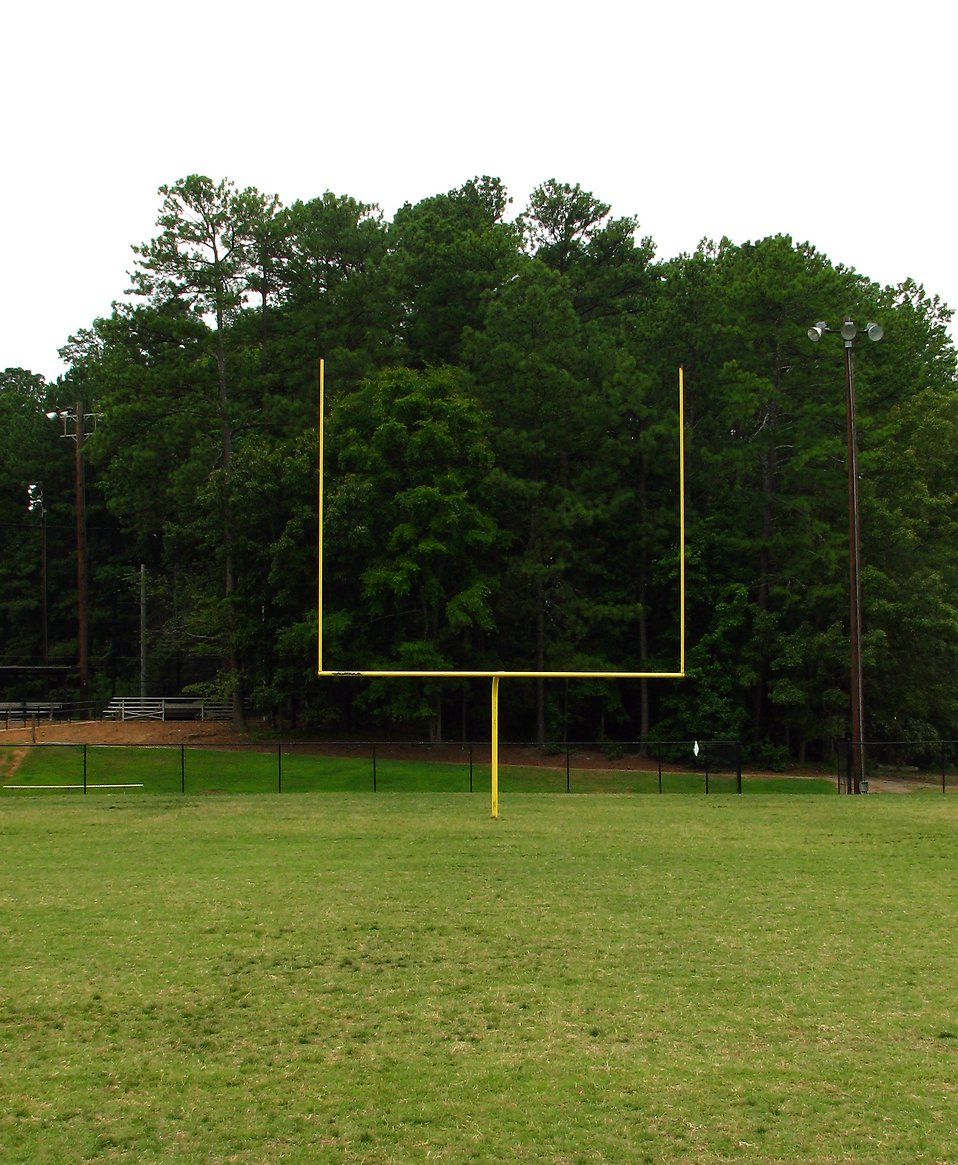 A football goal post on a field : Free Stock Photo