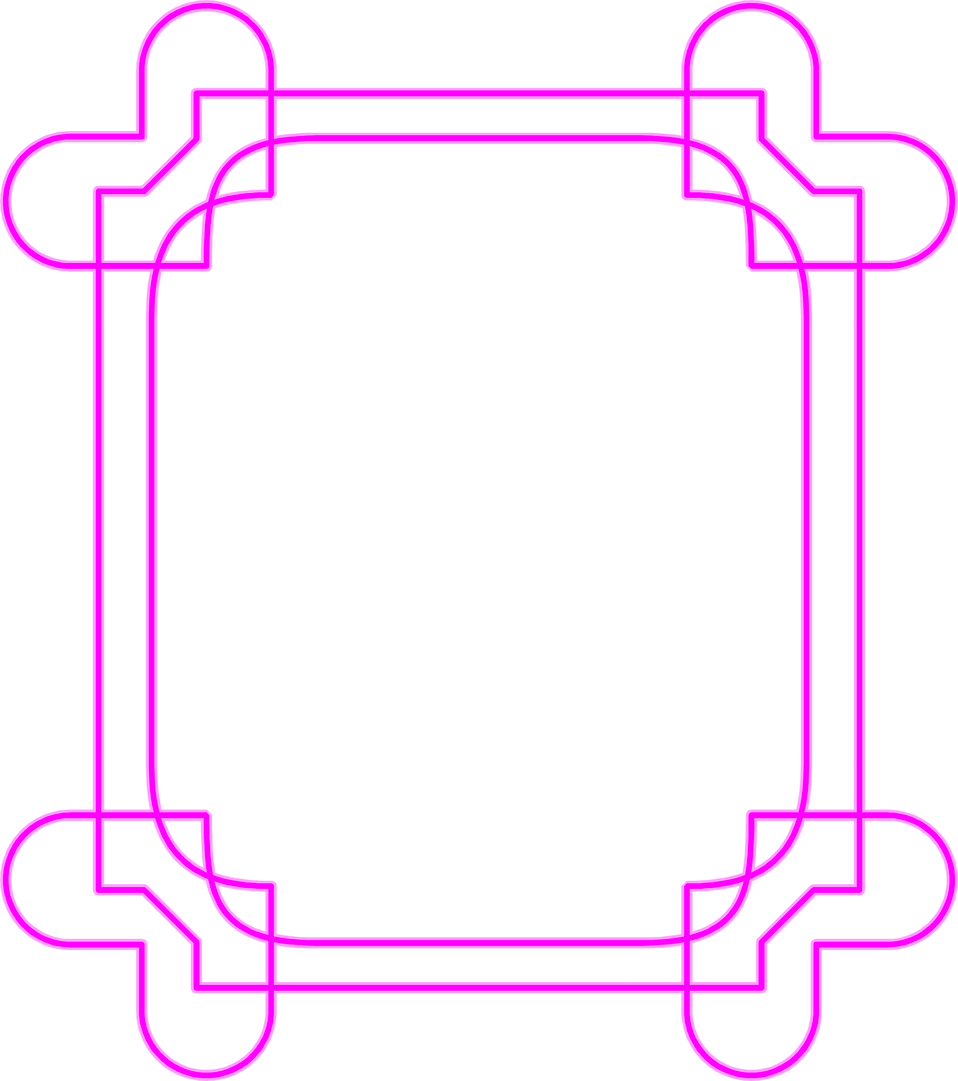 Illustration of a blank pink frame border : Free Stock Photo