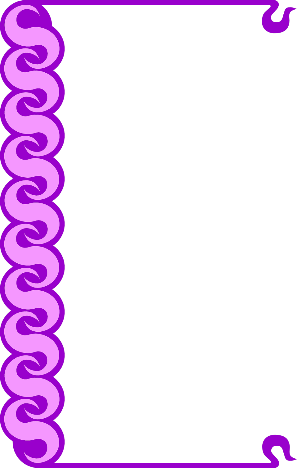 Illustration of a blank frame border with purple swirls : Free Stock Photo