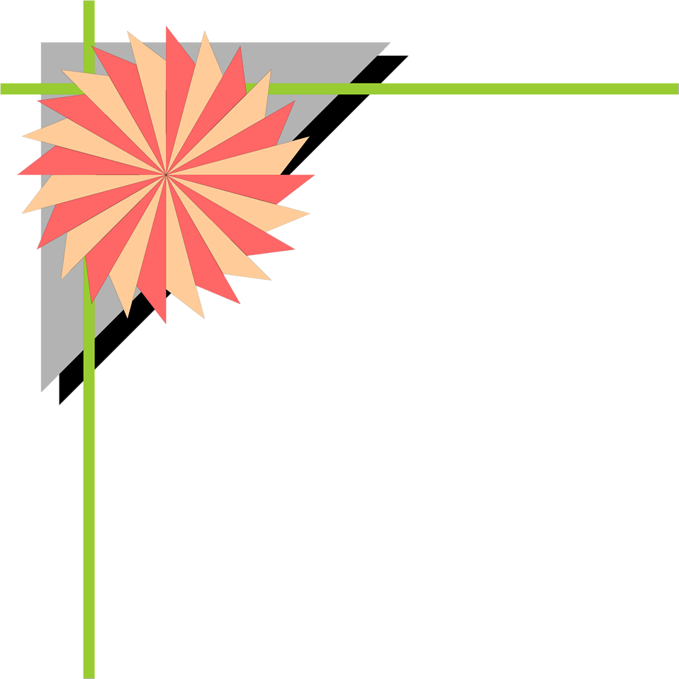 Illustration of an upper left frame corner with a pinwheel shape : Free Stock Photo