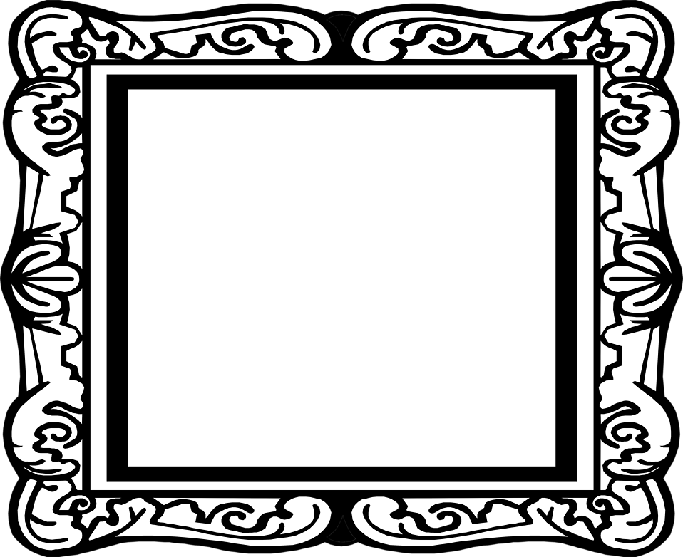 antique frame border png. Illustration Of A Blank Picture Frame : Free Stock Photo ? Antique Border Png