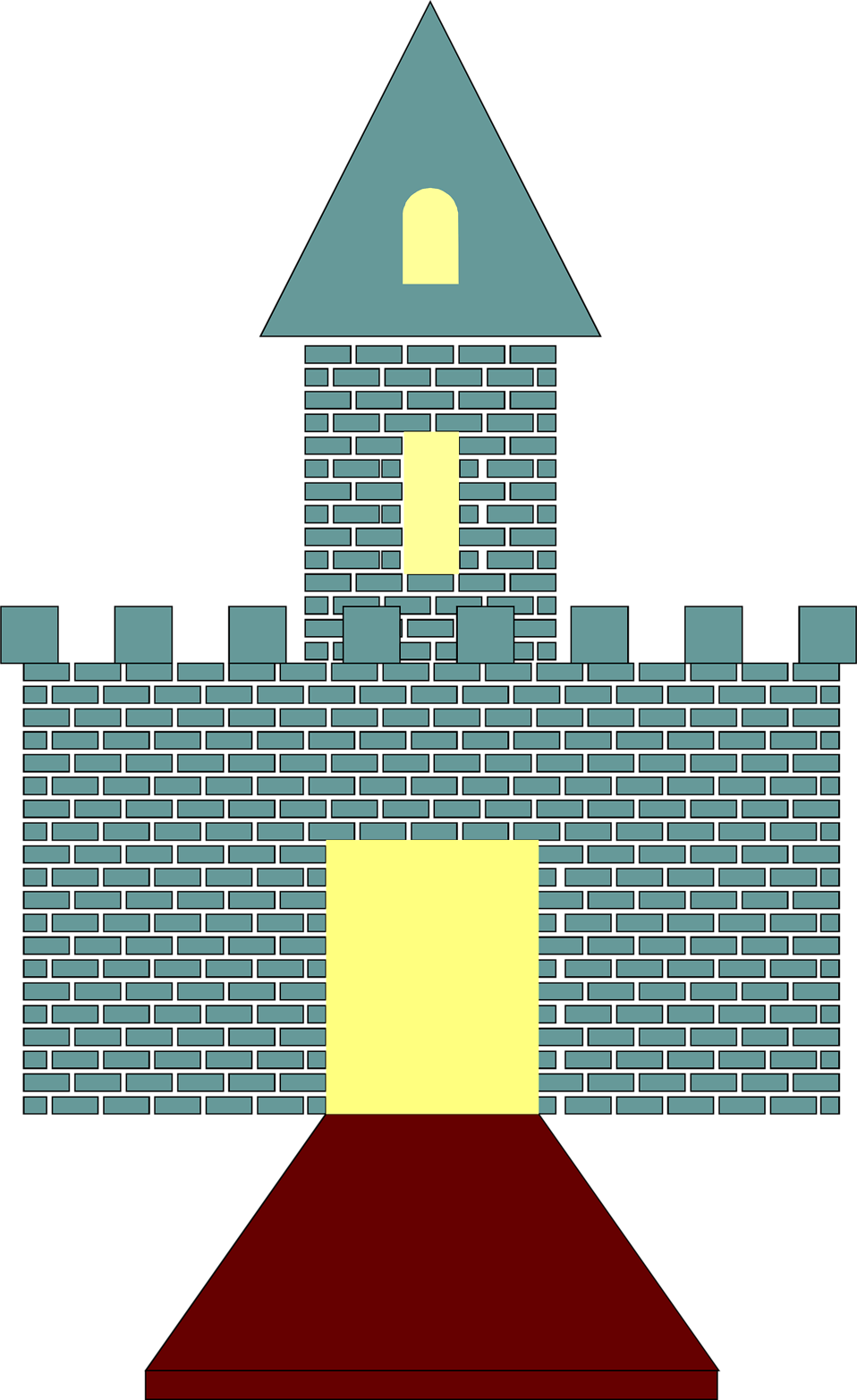 Illustration of a castle front gate : Free Stock Photo