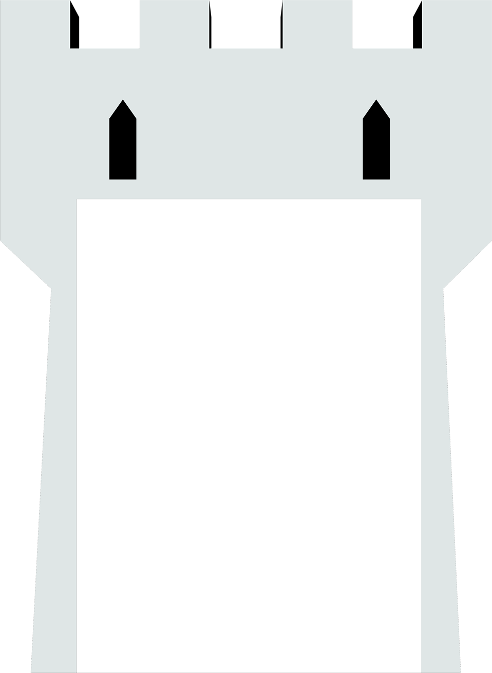 Illustration of a blank castle tower : Free Stock Photo