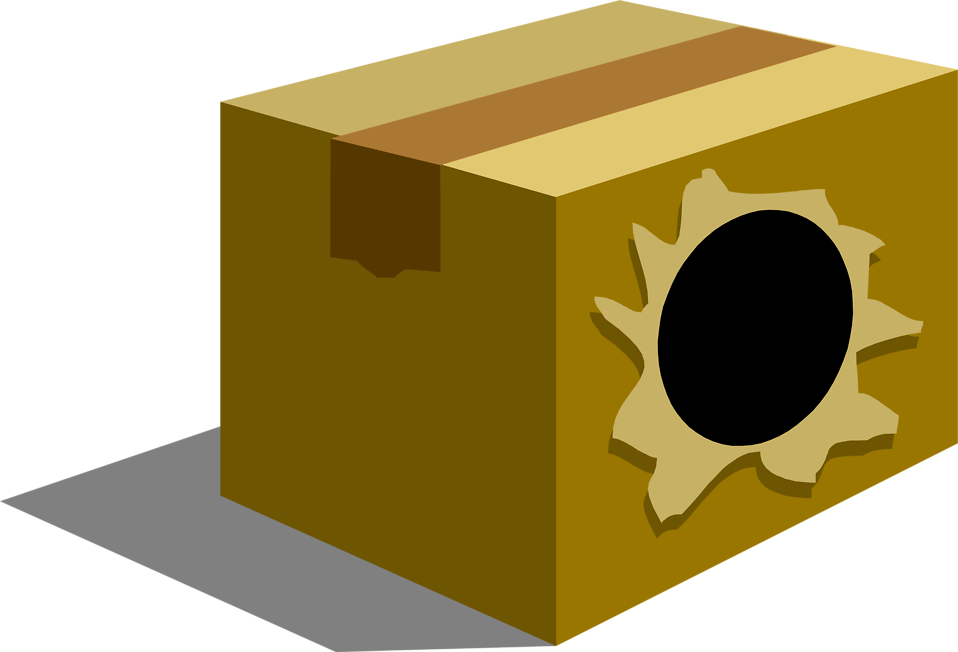 Illustration of a box with a hole in it : Free Stock Photo