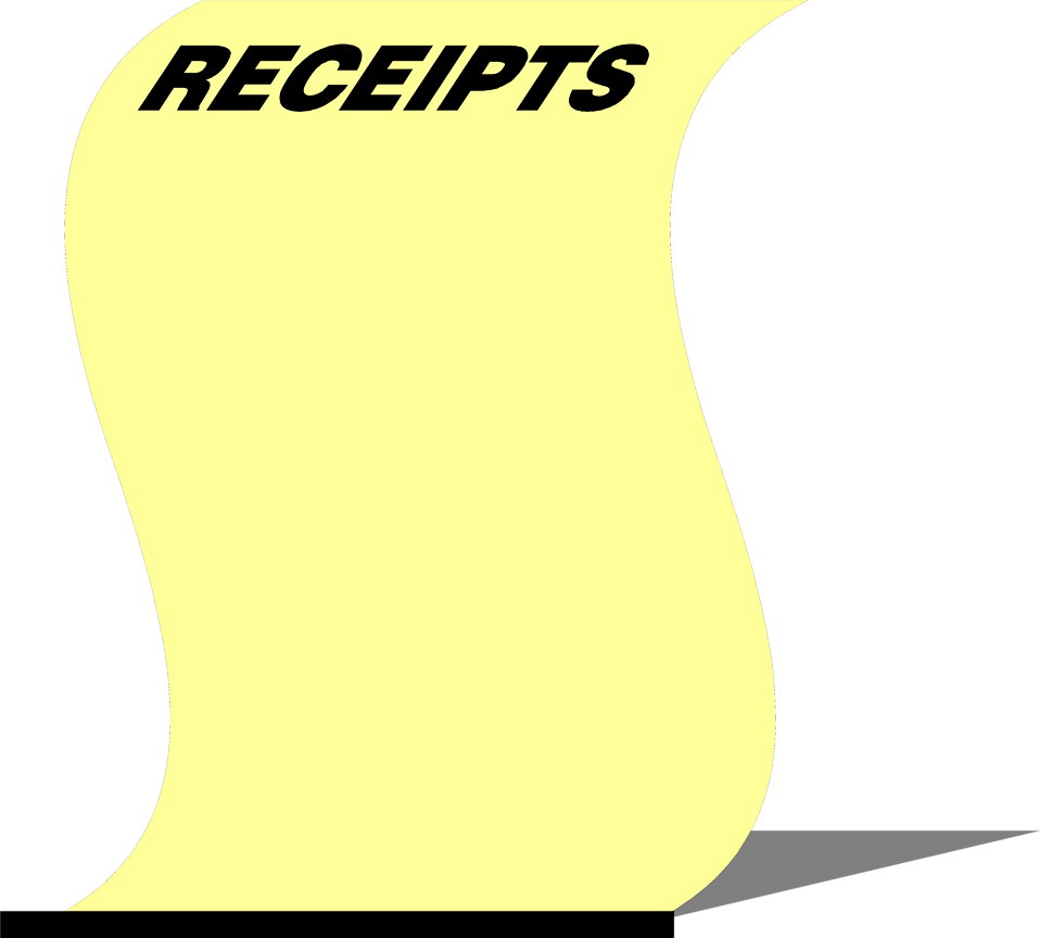 Illustration of a blank yellow receipt : Free Stock Photo