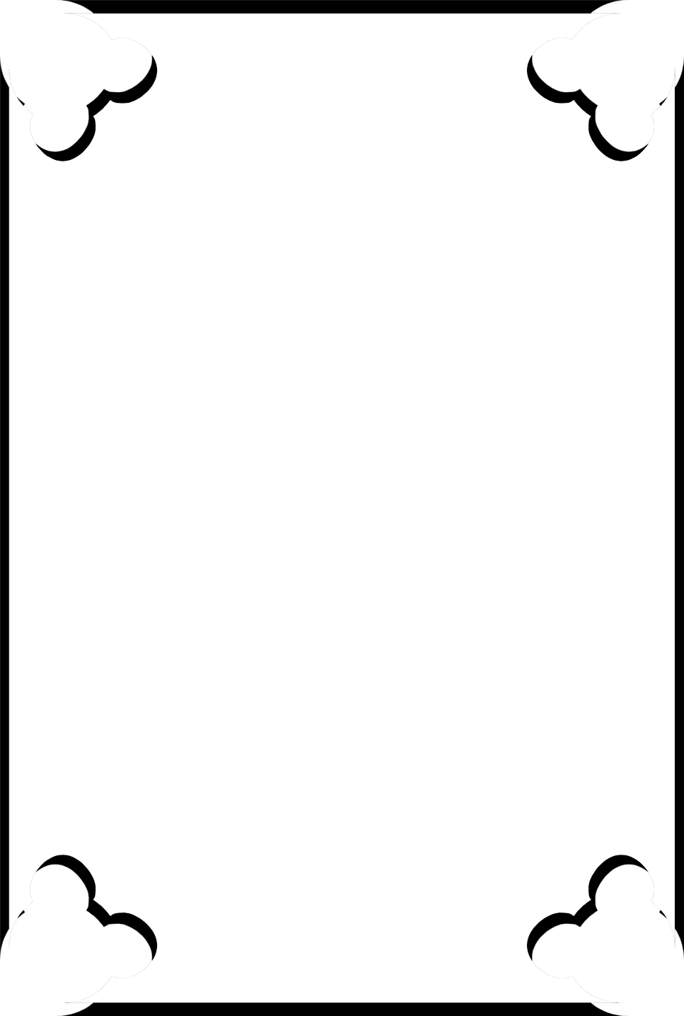 Illustration of a blank frame border with cut out corners : Free Stock Photo