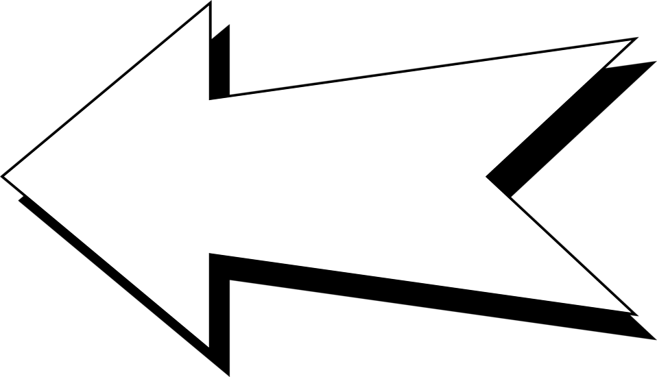 Illustration of a white left facing arrow : Free Stock Photo