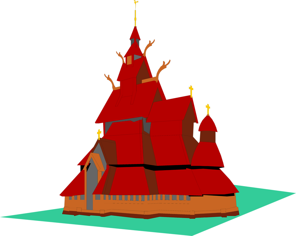 Illustration of a temple : Free Stock Photo