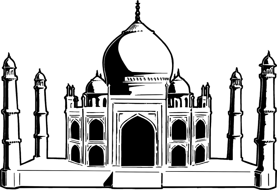 Illustration of the Taj Mahal in India : Free Stock Photo