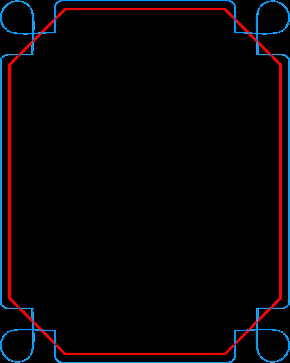 Border   Free Stock Photo   Illustration of a blank blue ...