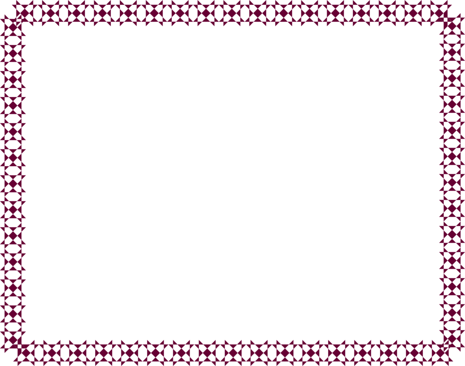 Illustration of a blank frame border of dark purple shapes : Free Stock Photo