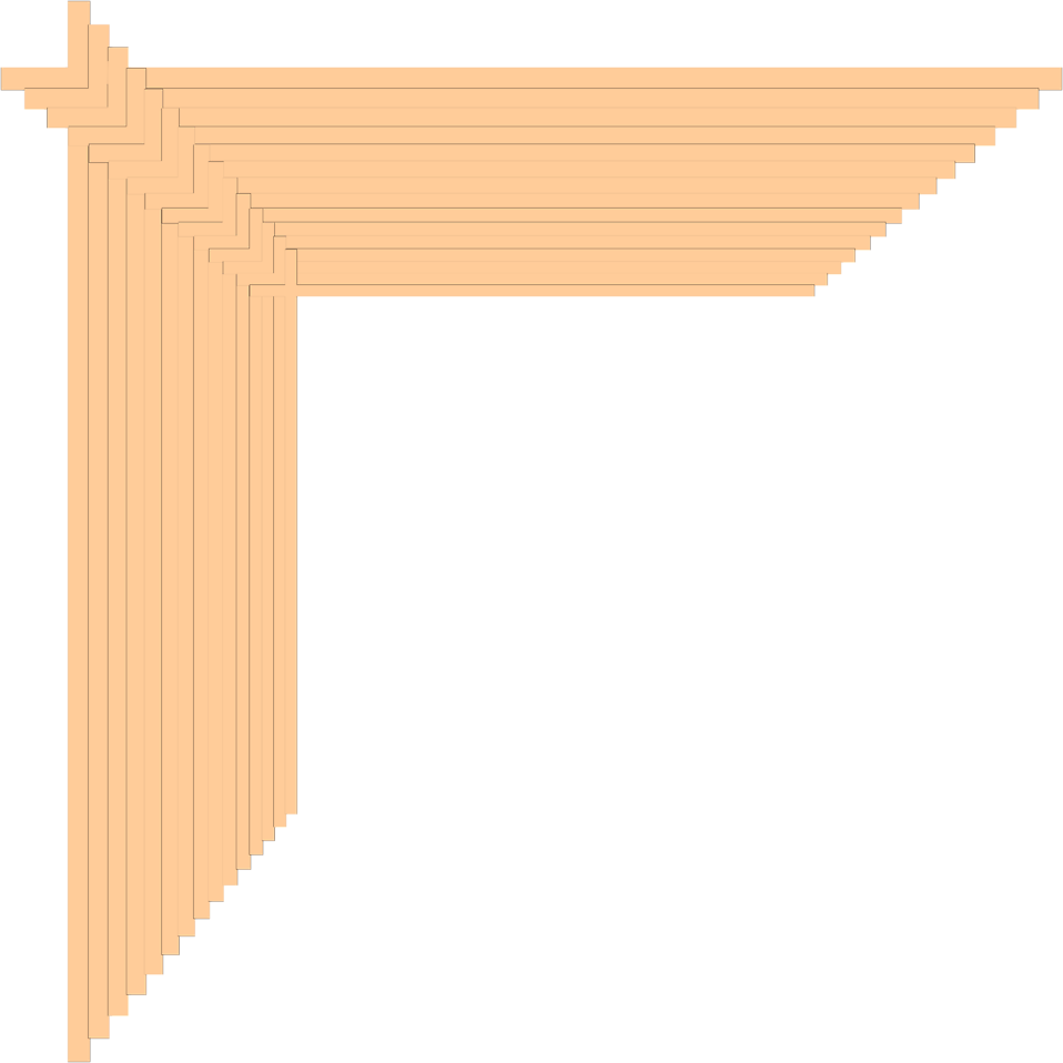 Illustration of an upper left frame corner : Free Stock Photo