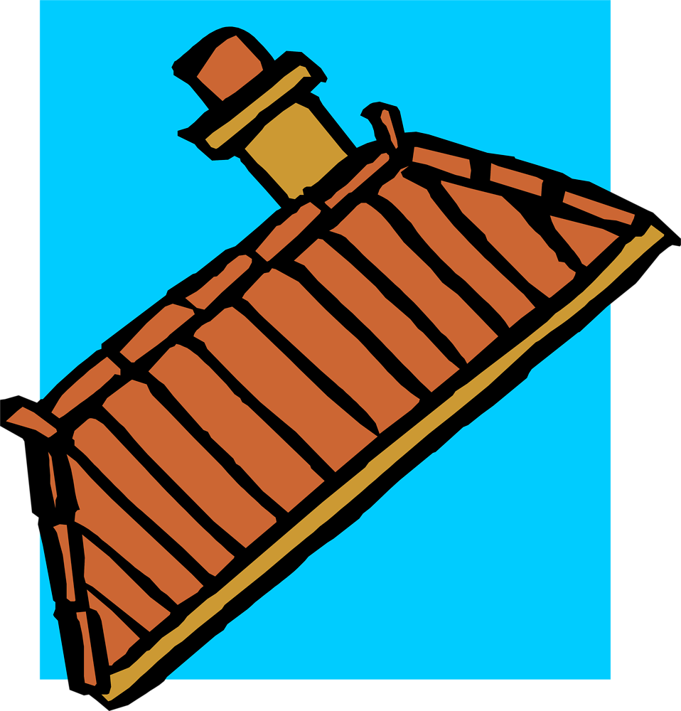Illustration of a building roof : Free Stock Photo