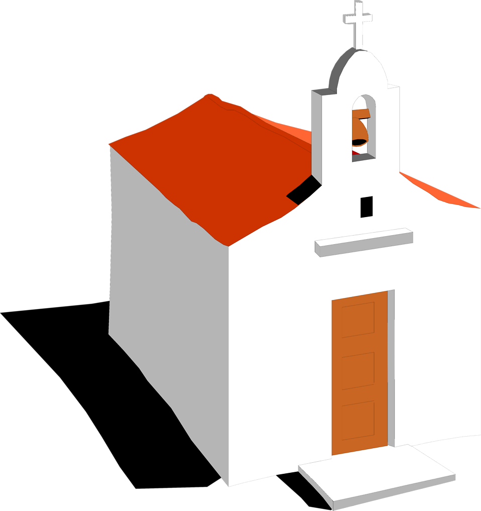 Illustration of a mission church : Free Stock Photo