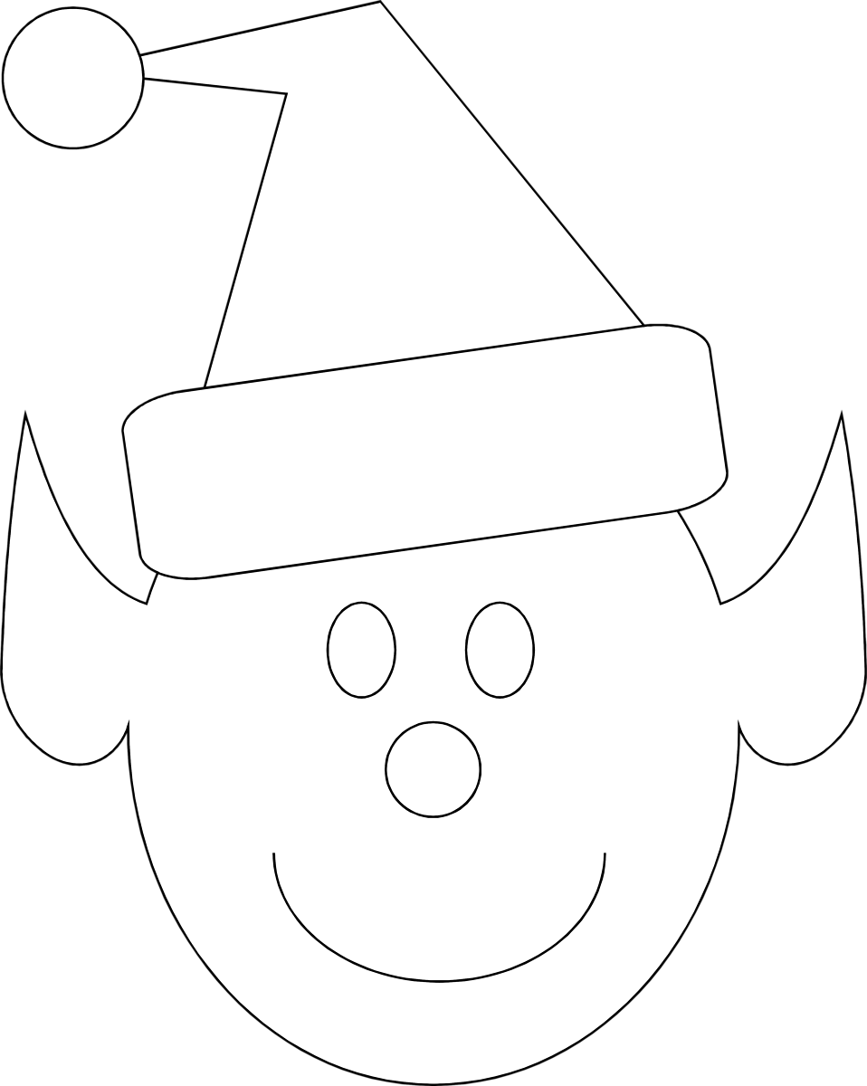 Illustration of a Christmas elf face : Free Stock Photo