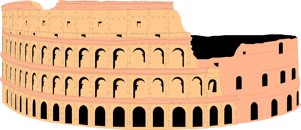 Illustration of the Colosseum in Rome, Italy : Free Stock Photo