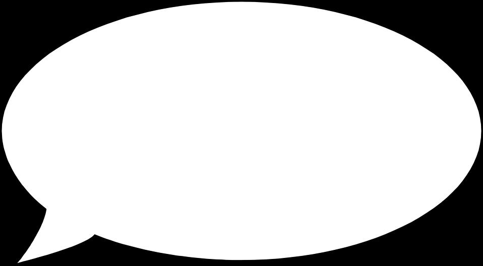Illustration of a blank cartoon bubble : Free Stock Photo