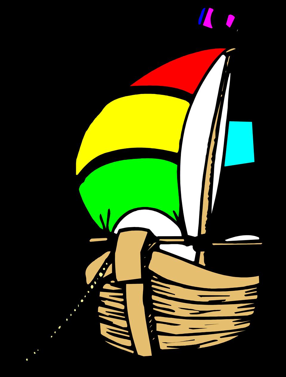 Illustration of an anchored sailboat : Free Stock Photo
