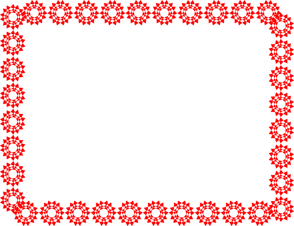 Illustration of a blank frame border of red shapes : Free Stock Photo
