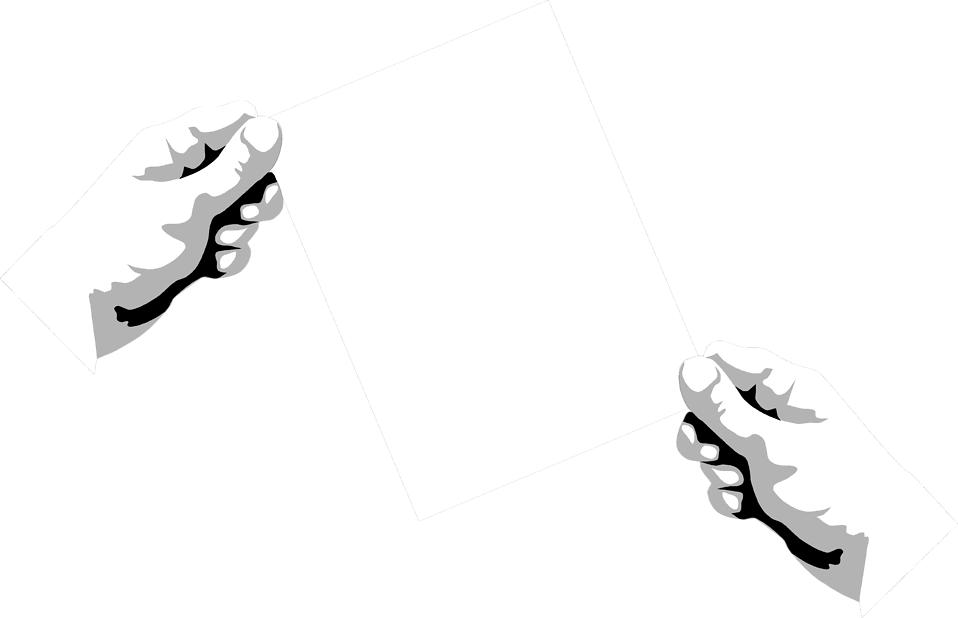 Illustration of hands holding a blank paper : Free Stock Photo